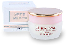 Увлажняющий крем жемчуг, алоэ / White Moisture Protection Cream