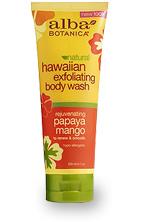 Гавайский гель-эксфолиант для душа с папайей и манго / Natural Hawaiian Exfoliating Body Wash Rejuvenating Papaya Mango