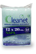 Волокнистая пенообразующая губка Cleanet (12х20 см)