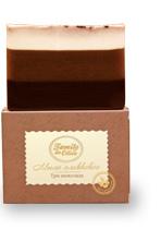 Глицериновое мыло ручной работы Три шоколада