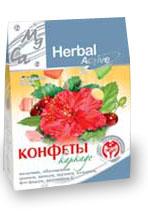 Конфеты Каркаде со вкусом вишни на фруктозе
