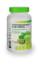 Коктейль протеиновый Диеталика Зеленая энергия. Дневная формула